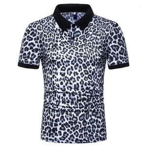 Polo T-shirts manches courtes Tops 2020 hommes Leopard Polos Été Designer Homme Mode Casual