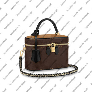 M42265 BB NICE Case Canvas M45165 Vanity Purse Handbag Cowhide Leather Shoulder Bag PM Crossbody VANITY Women Iutcc