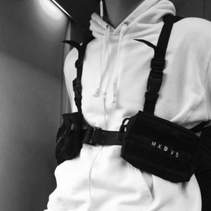 Ombro Moda Punk Peito Bag para as Mulheres Homens Hip-Hop Tactical streetwear do estilo Bolsa de Cintura Homens Outdoor Sports coldres Sling Side sacos G33FY