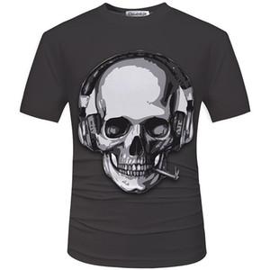 Cloudstyle nuevos hombres calientes del verano camiseta 3D Fashion Street modelos amor de la manera cráneo alma carro de la roca camiseta de los hombres ropa casual primer golpe