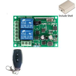 50pcs 433Mhz Universal-drahtloser Fernsteuerungsschalter AC 250V 110V 220V 2CH Relais-Empfänger-Modul und 4PCS RF