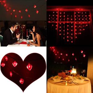 светодиодные струнные светильники в форме сердца 2 м 20 светодиодные погружные провода в форме сердца струнные фонари аккумулятор фея фары свадебные украшения
