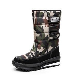 Men Boots platform snow boots for men thick plush waterproof slip-resistant male winter shoes Plus size 34 - 47 CJ191205