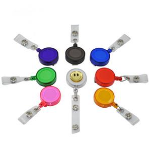 Moda retráctil carrete de la cuerda de seguridad Sonreír titular insignia tarjeta Cara de oficina de escuela del clip del metal fácil de usar