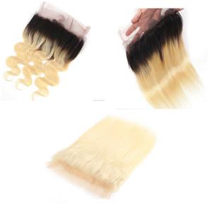 360 Full Frontal chiusura del merletto Biondi Body Wave e diritto 613 colori brasiliana peruviana 100% umani del Virgin di Remy dei capelli 10-18 pollici