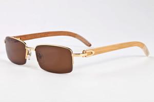 2019 новая мода черный рог буйвола очки Солнцезащитные очки для женщин и мужчин поляризованные деревянные солнцезащитные очки бамбуковая рамка золото дерево очки