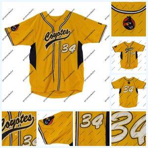 34 Bryce Harper 2010 Sur de Nevada Juego Worn Junior College de Jersey del equipo de béisbol de los empleados de eslora doble cosido nombre y número