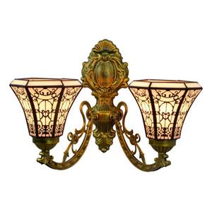 Barocca Vintage parete di Tiffany Art Lamp Stained Glass Wall Luce lampada dell'interno Comodino Sospese