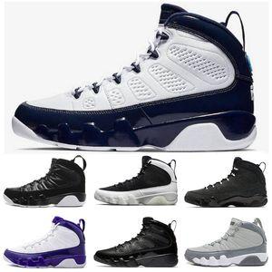 2019 Nouveau Jumpman 9 9s Hommes Chaussures de basket-Bred rêve Anthracite Chlorophylle Pure White Tinker Desert Camo Westbrook sport Chaussures de sport