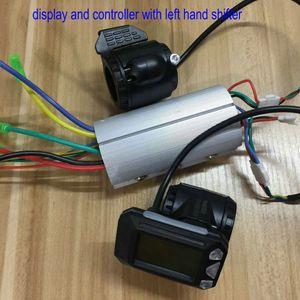 탄소 섬유 스쿠터 / 전기 자전거 accessiryFolding 자전거 부품 LCD 디스플레이 스로틀 + + 미니 사이즈 컨트롤러 24V36V48V350W