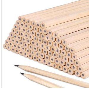 나무 연필 비 독성 육각형 어린이의 주요 학교 회화 작문 HB 예술 문구 학생 사무실 10 개 공급