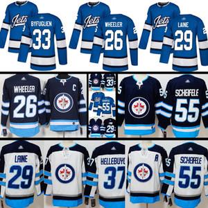 New Winnipeg Jets Jersey Mens 26 Blake Wheeler 29 Patrik Laine 33 Dustin Byfuglien 37 Connor Hellebuyck 55 Mark Scheifele Hockey Jerseys