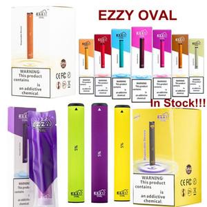 Ezzy ovale dispositivo monouso Pod Vape Pen E Cigarettes Starter Kit con la sicurezza Codice 1.3ml Carrelli 280mAh batteria scarica Pods vendita caldi