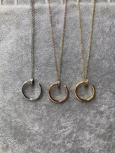 Mode collier en acier inoxydable incrusté de zircon quelques femmes bijoux collier amour collier classique hommes bijoux de luxe avec la boîte