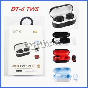 20pcs DT-6 TWS sem fio Bluetooth 5.0 fone de ouvido Fone Stereo Earbud Esporte in-Ear fone de ouvido para Smartphone pk i12 i11 I88 i18 i9s