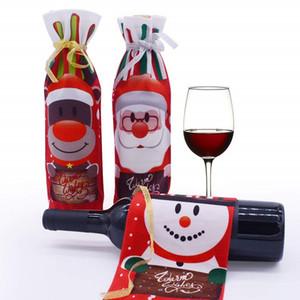 Vinhos Tintos Embalagem Snowman Wine desenhos animados Natal Bolsa Multi Color Bottle Capa saco de poeira para a decoração da tabela da festa de alta qualidade 4JL ZZ
