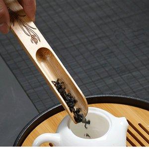 Chá colher Pá de bambu natural Café Chá Preto Colher pó colher de chá Teaware Chinese Tea Acessórios CT0185
