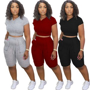 Womens Yoga suit outfits two piece set summer slim solid women clothes jogging sport suit sweatshirt T-shirt tights sport suit klw3978