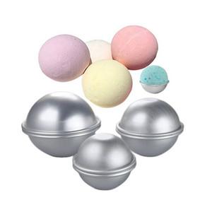 Bath bomba Bolo Mold 3D liga de alumínio bola Sphere Mold Bolo Baking Pastry Mold 4,7 cm 5,7 cm 6,7 centímetros