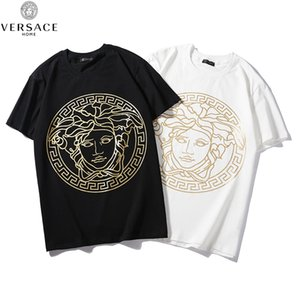 Мода мужская женская мужская негабаритных футболка с коротким рукавом рубашки топы Лето 2 цвета 2019 повседневная B103848Z