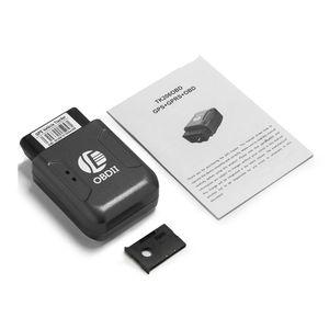OBD2 GPS Tracker Car Tracker Echtzeit GSM-Tracking-Gerät TK206 Geo-Zaun-Über-Speed-Vibration Bewegung Alarm Web App-Tracking