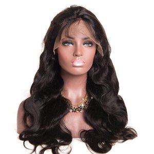 Zhifan полный шнурок Ombre Silk Top 14 -26inch полный шнурок парики Длинные парики Боб для белых женщин Real человеческих волос Remy девственницы