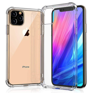 Super anti-frappe SOFT TPU TPU TRANSPARENT CASE DE PROTECTION PROTECTION Coque antichoc pour iPhone 11 PRO Max XS Note10 Mate 30 Pro