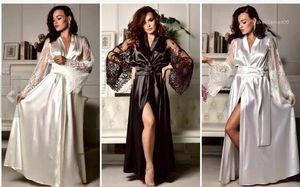 실크 잠옷 디자이너 V 넥 패션 패널로 느슨한 여성 여름 섹시한 레이스 가운 캐주얼 섹시한 모조 아이스