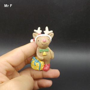 Exquis Diy Accessoire mignon Cerf de Noël Figurine polyrésine Décoration Statue des animaux Artisanat Cadeau Accessoires Embellissement Jouet