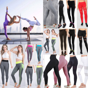 Womens Yoga Tops Leggings Crop Fitness Sports PantsGym exercice Courir Jogging Pantalons