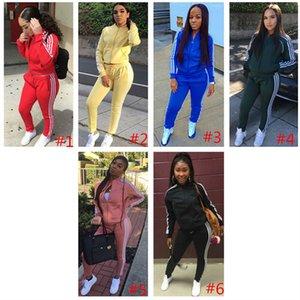 Vêtements d'entraînement pour femmes Fitness Gym Survêtement Survêtement À Manches Longues Veste + Pantalon Legging Tenue Costume Tricote Vêtements Respirant S-XL