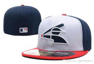 Uomo White Sox Bianco blu rosso Baseball montato Cappelli Sport Lettera sox logo Ricamo Top Quality tappi chiusi moda economici Ossa
