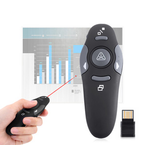 2.4 GHz Wireless Presenter Red Laser Pointers Pen USB RF Remote Control Page Turning PPT Laser Pointer Presentation Accessories