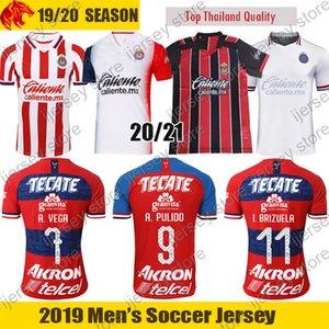 20 21 Chivas de Guadalajara 'Futbol Forma LIGA MX Chivas 2020 2021 VEGA camiseta de fútbol BRIZUEL Camisa PULIDO Mens Jersey Çocuk Seti