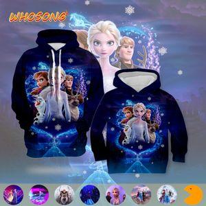 WHOSONG 3D Hoodies 2019 Hot venda de desenho animado popular FROZEN 2 Jacket Moda Rapazes Raparigas Roupa Homens Mulheres Unisex engraçado da camisola Y200519
