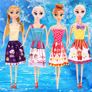 11 '' Freeze Dolls Set Dress-Up Toys For Girls Regalo di compleanno Moda Barbie Bjd Baby Doll House Discount Girl Dress Black Friday