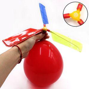 Voando Balão Helicóptero Brinquedo Kid's balão de brinquedo Brinquedo Auto-combinado Balão Helicóptero Crianças Aniversário Xmas Party DIY Presente CLS350