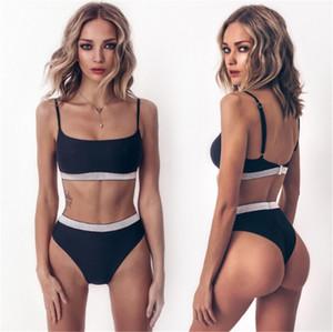 Fashion-2019 نماذج انفجار جديدة الأوروبية والأمريكية بيكيني جديد فلاش ضمادة ملابس السباحة ملابس السباحة النسائية