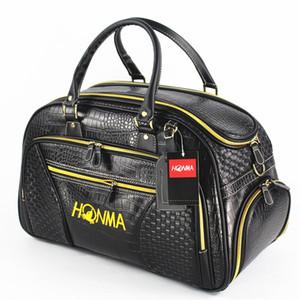 High End Honma Golf Boston Bag Crocodile textura Golf roupa saco sapatos de golfe separado Saco