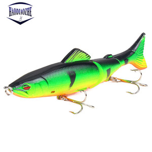 Popper Fishing Lure 13cm 20g Multi Jointed Sections Crankbait Artificial Hard Bait Bass Trolling Pike Carp Minnow Fishing Tools