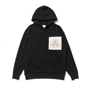 CLO marca T-tripartito etiqueta conjunta bordado de rizo de algodón de alta calidad con capucha sweater4QRR