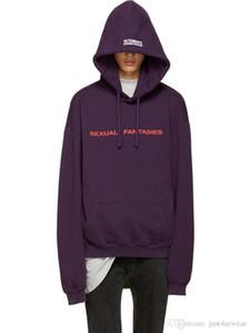 Mens Fashion Designer Brief Drucken Hoodies Frauen Lila Beiläufige Lose High Street Hoodies Herbst Winter Sweatshirts