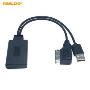 Stereo FEELDO Car Audio Sans Fil Bluetooth Module récepteur AMI musique AUX Adaptateur Q5 A5 A7 R7 S5 Q7 A6L A8L A4L Câble AUX # 6284