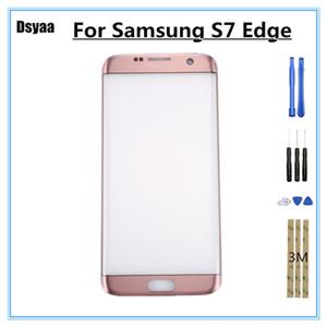 5.5 بوصة لسامسونج غالاكسي s7 حافة S7edge G935 G935F G9350 الزجاج الخارجي لمس الشاشة لوحة محول الأرقام الاستشعار أجزاء الهاتف
