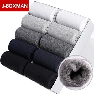 10 Pares Calcetines de Invierno de Los Hombres Suave Transpirable Otoño Calcetines de Algodón para Hombres 2019 Largos Calcetines de Equipo Térmico de Año Nuevo de Alta Calidad regalos