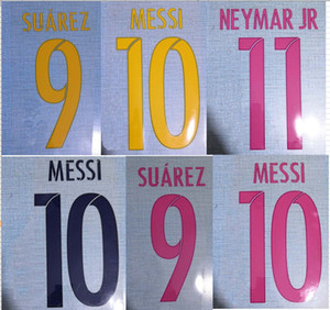 15-17 15-16 16-17 MESSI SUAREZ NEYMAR JR badge patch ensemble de noms