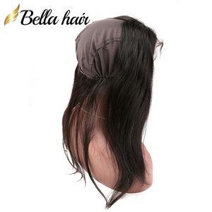 """360 Lace Frontal avec Cap 22x4"""" Brésilien Vierge Cheveux Tissages Top droite Closures Dentelle Frontal Couleur naturelle Bellahair"""