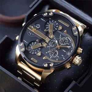 Top Luxury Mens Assista Dourado Grande Dial Datejust Venda Quente Homens Marca Esporte Relógios Militar Relógios Relógios de Pulso Orologio di Lusso