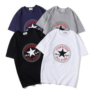 2019Europe Fashion Summer Box di alta qualità logo Skateboard T-shirt Top Uomo Donna Street Luxury Cotton T Shirt Casual Tee