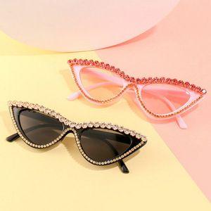 worldkick2018 2020 new trend cat eye sunglasses fashion diamond sunglasses ocean film triangle frame wild sunglasses